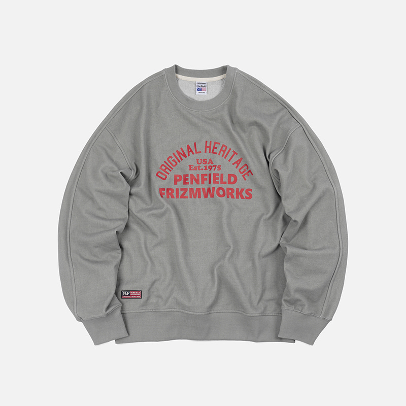 [PENFIELD X FRIZMWORKS]Original heritage pigment sweatshirt _ light gray
