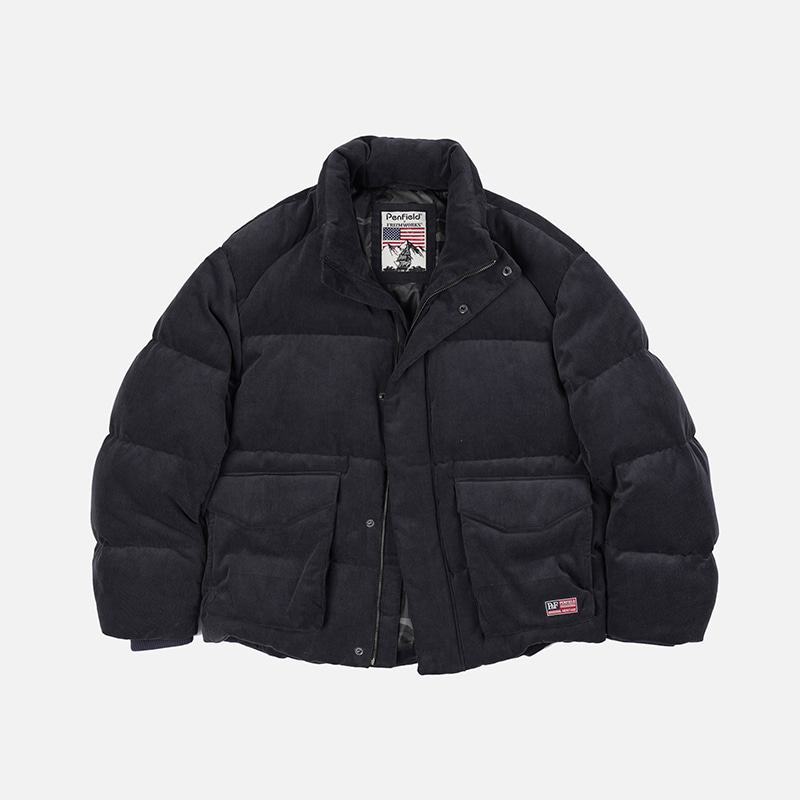 [PENFIELD X FRIZMWORKS]Corduroy puffer down _ charcoal