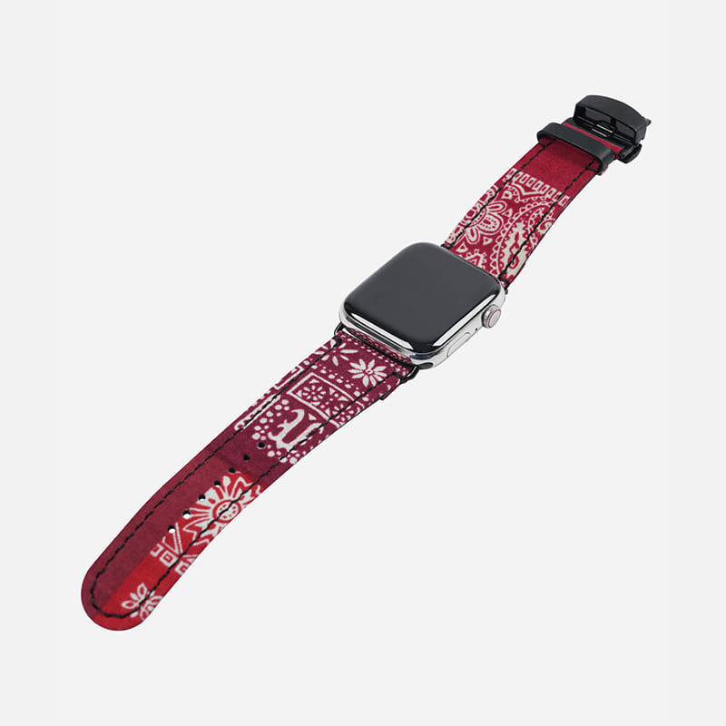 [FWS X ELK] Bandana apple watch strap _ red