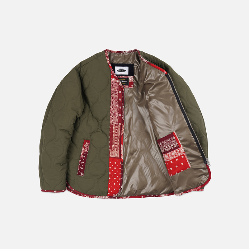 [FWS X QUIETIST] Union liner jacket _ olive