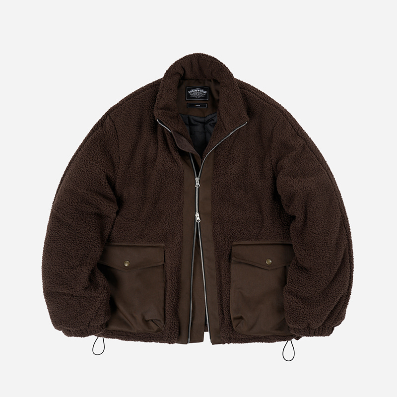 Heavy fleece grizzly jacket 003 _ brown