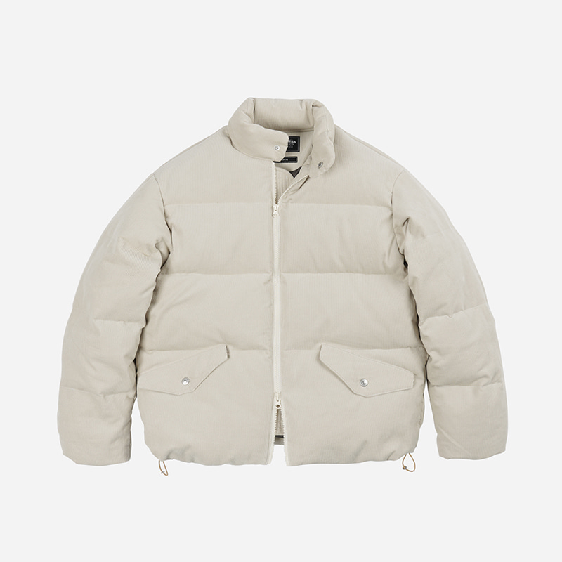 Corduroy goose down jumper _ ivory