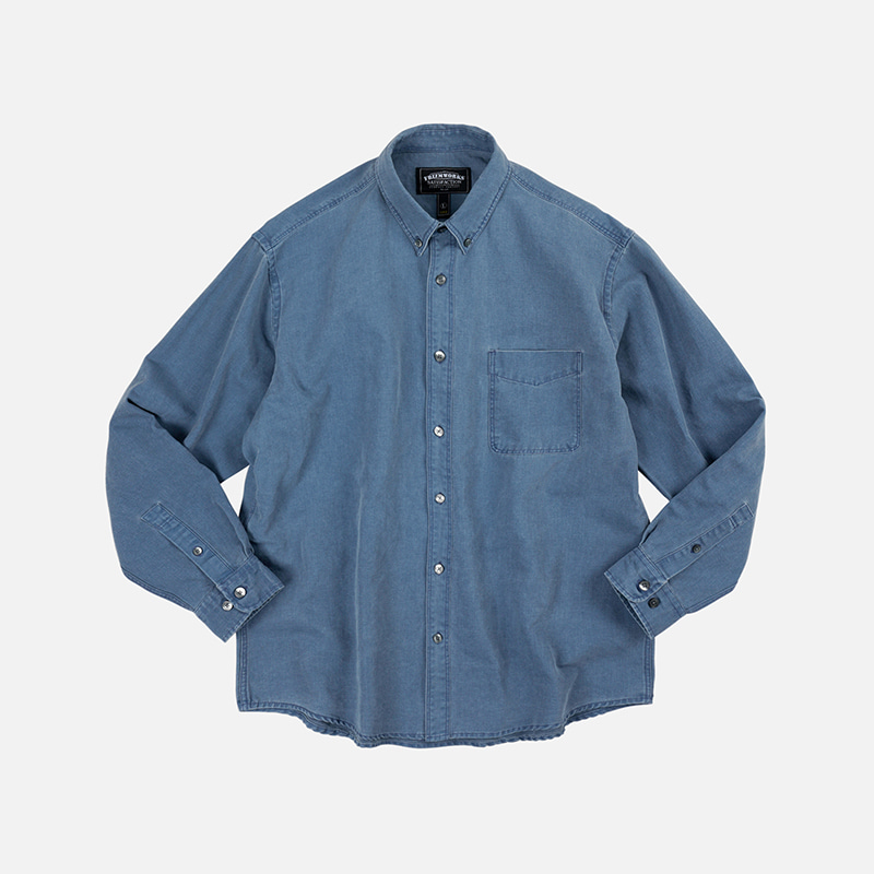Pigment dyeing oversized shirt _ blue