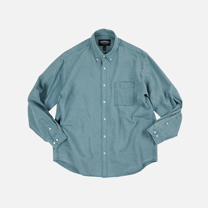 Pigment dyeing oversized shirt _ mint