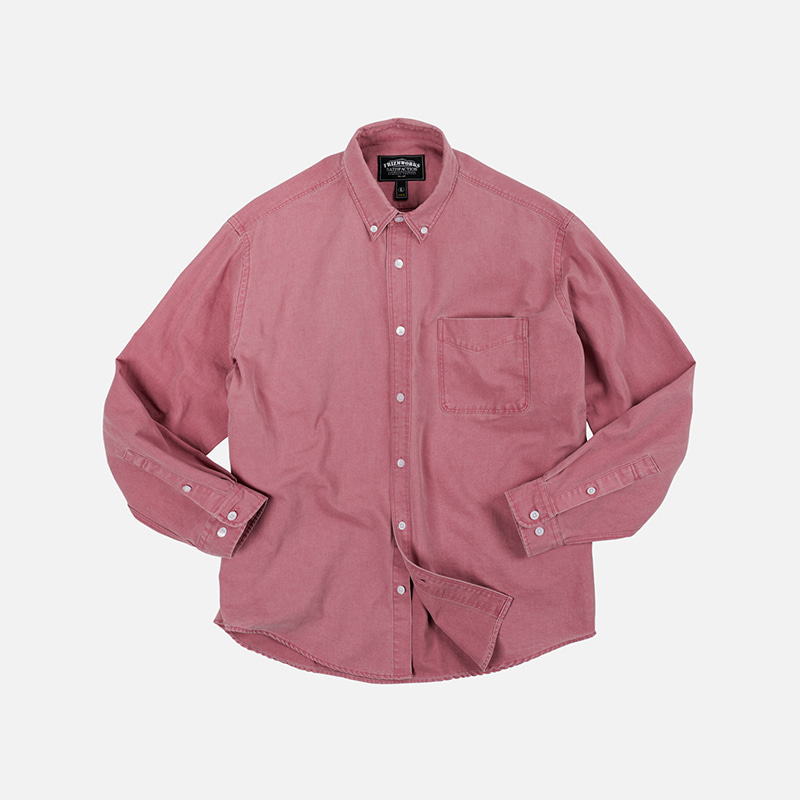Pigment dyeing oversized shirt _ pink