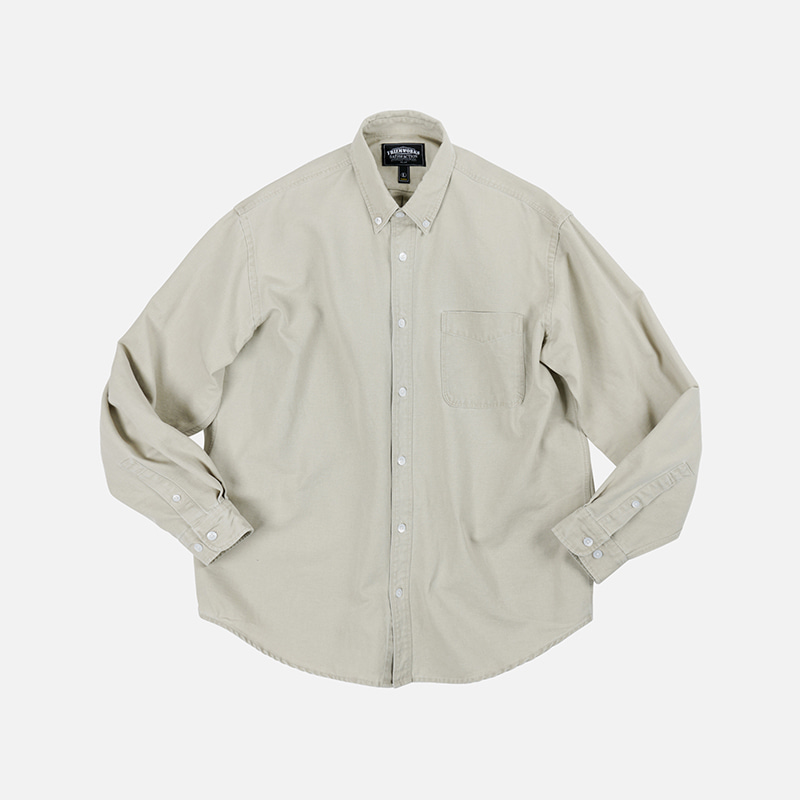 Pigment dyeing oversized shirt _ beige