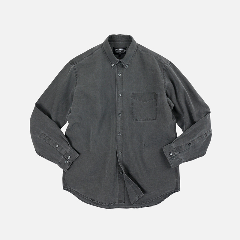 Pigment dyeing oversized shirt _ charcoal