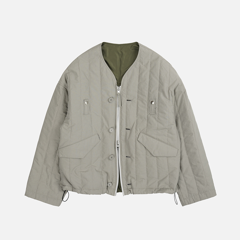 NYCO Quilted cardigan _ light gray