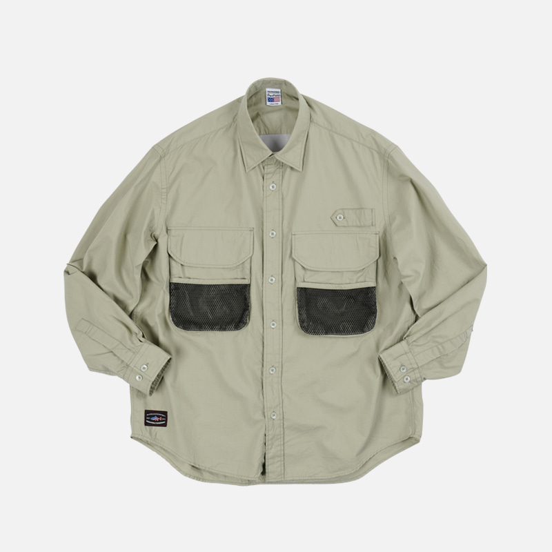 [PENFIELD X FRIZMWORKS] Fishing utility shirt _ light khaki