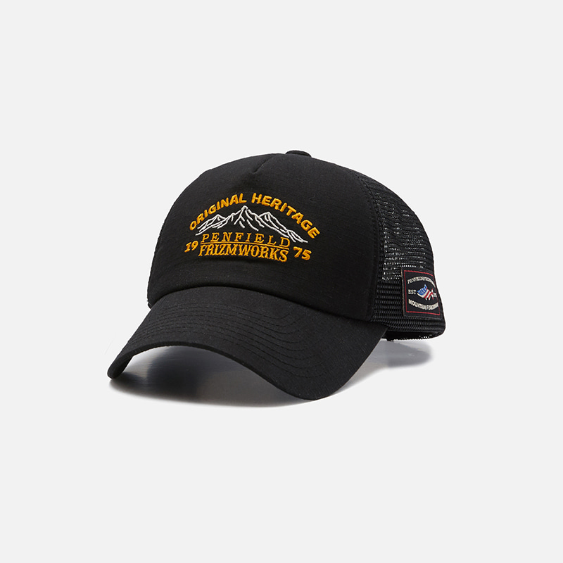 [PENFIELD X FRIZMWORKS] Valley logo trucker cap _ black