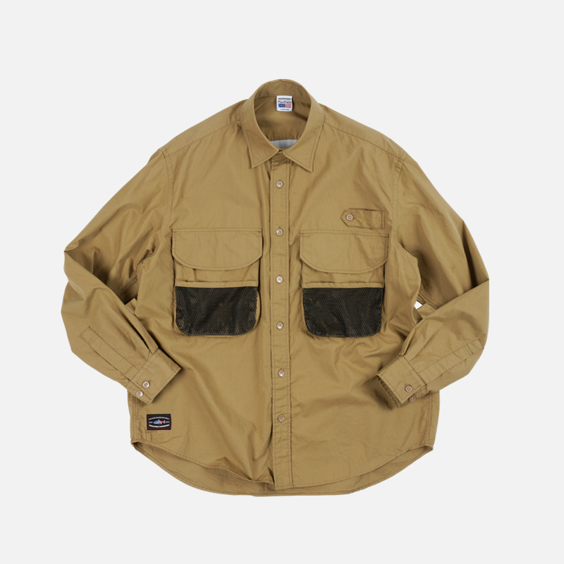 [PENFIELD X FRIZMWORKS] Fishing utility shirt _ beige