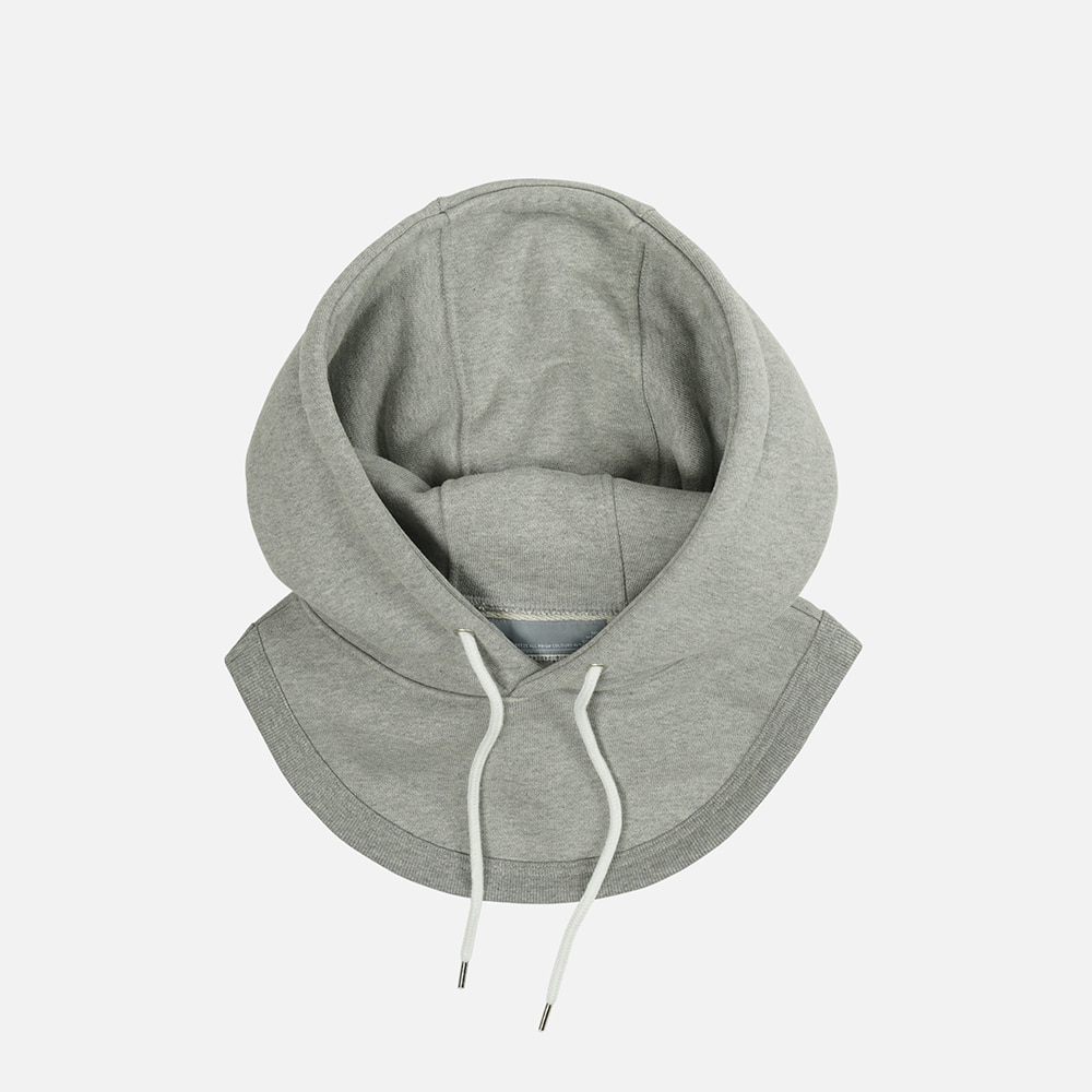 Separated hood _melange gray