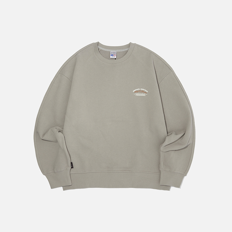 [PENFIELD X FRIZMWORKS] Mountain fishing sweatshirt _ gray