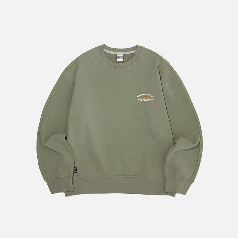 [PENFIELD X FRIZMWORKS] Mountain fishing sweatshirt _ light khaki