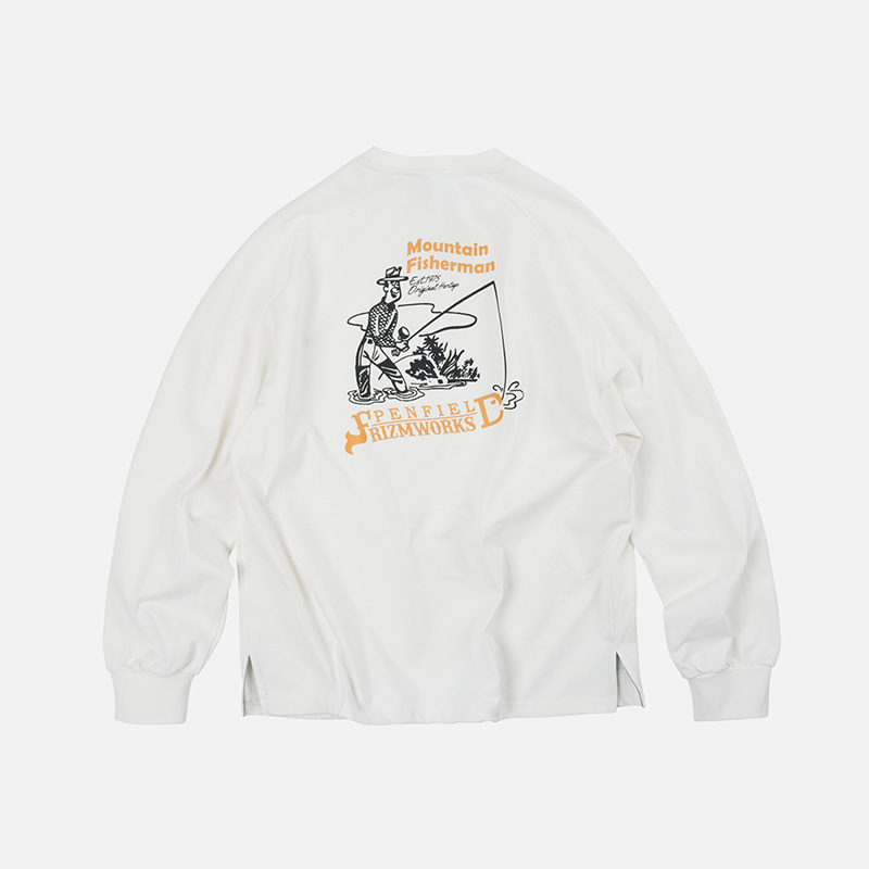[PENFIELD X FRIZMWORKS] P&F Fisherman long sleeve _ white