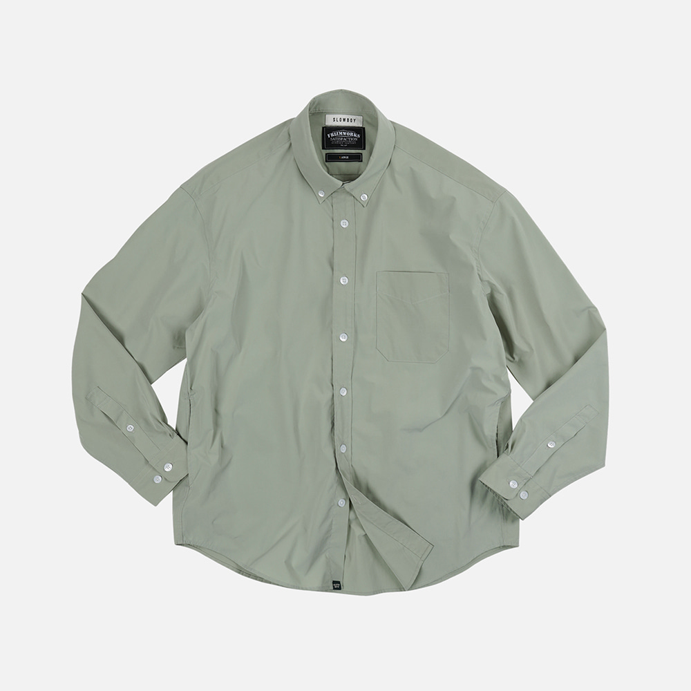 [SLOW BOY X FRIZMWORKS] Oversized button down shirt _ light green