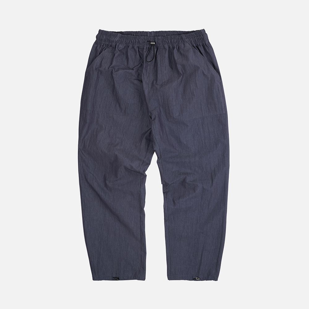Nylon fatigue easy pants _ navy