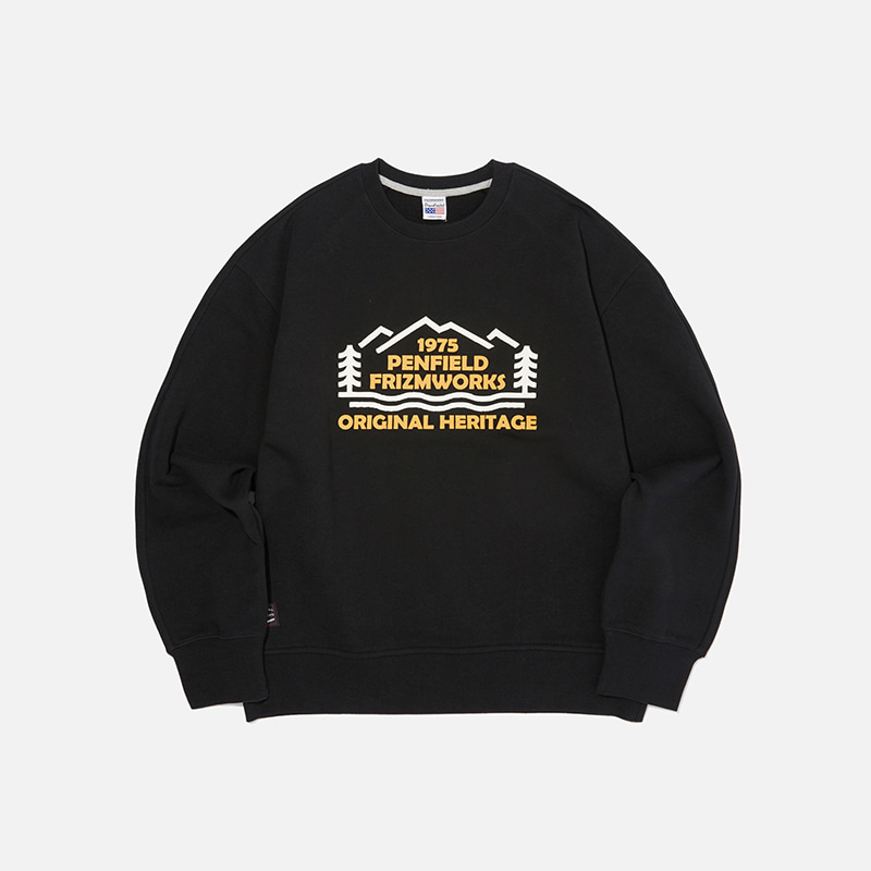 [PENFIELD X FRIZMWORKS] Forest logo sweatshirt _ black