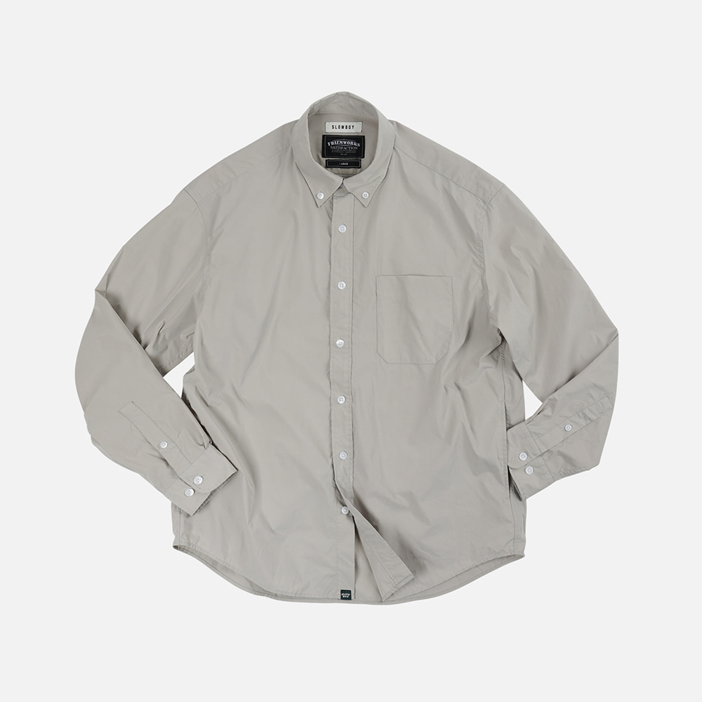 [SLOW BOY X FRIZMWORKS] Oversized button down shirt _ light gray