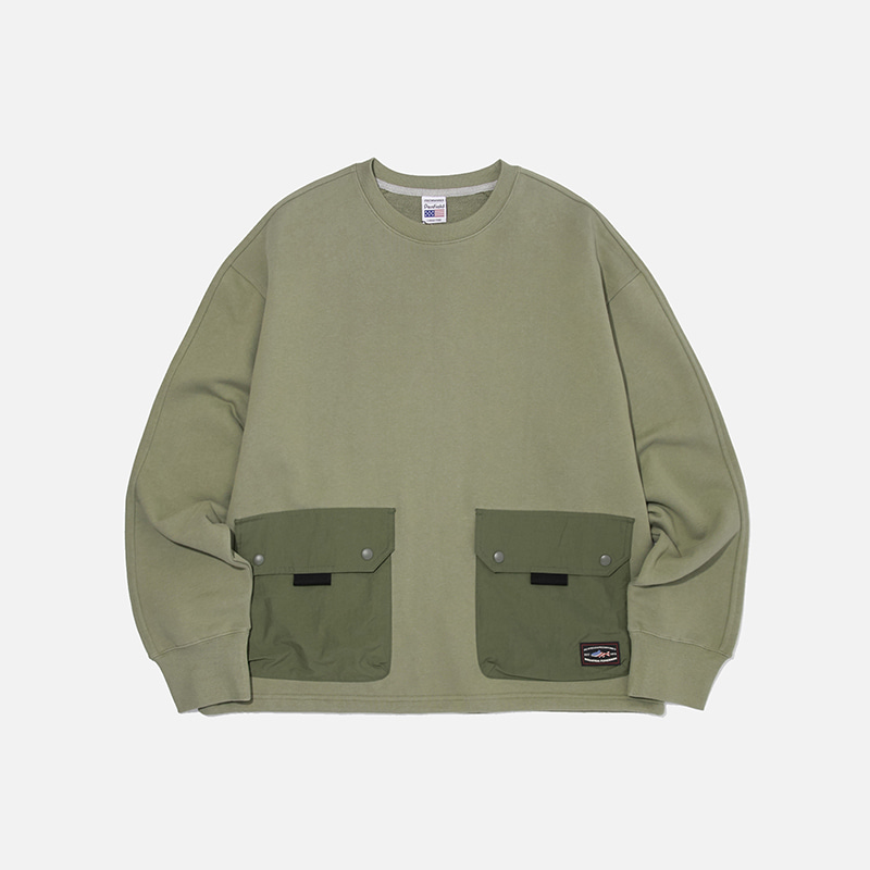 [PENFIELD X FRIZMWORKS] NYCO Pocket sweatshirt _ light khaki