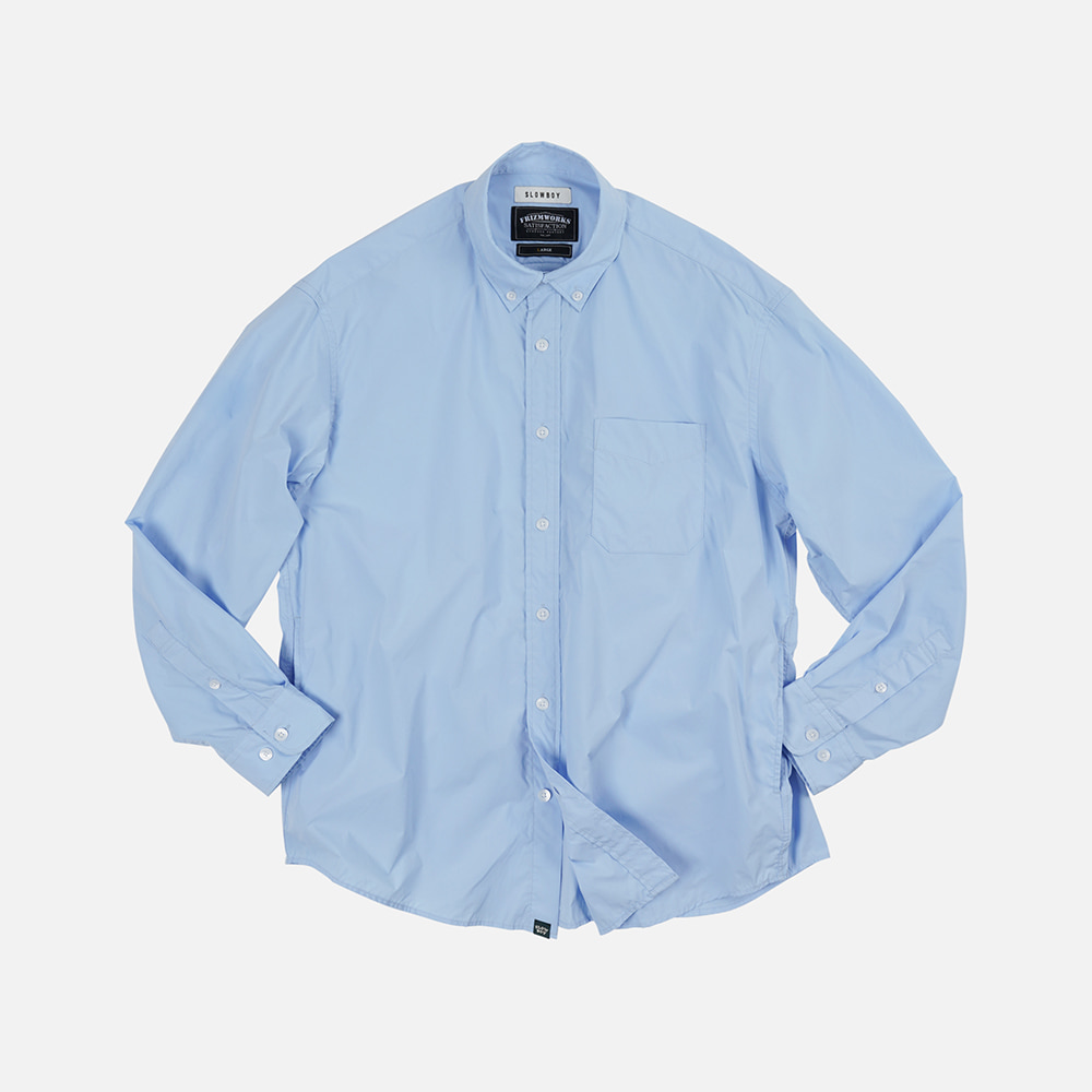 [SLOW BOY X FRIZMWORKS] Oversized button down shirt _ blue