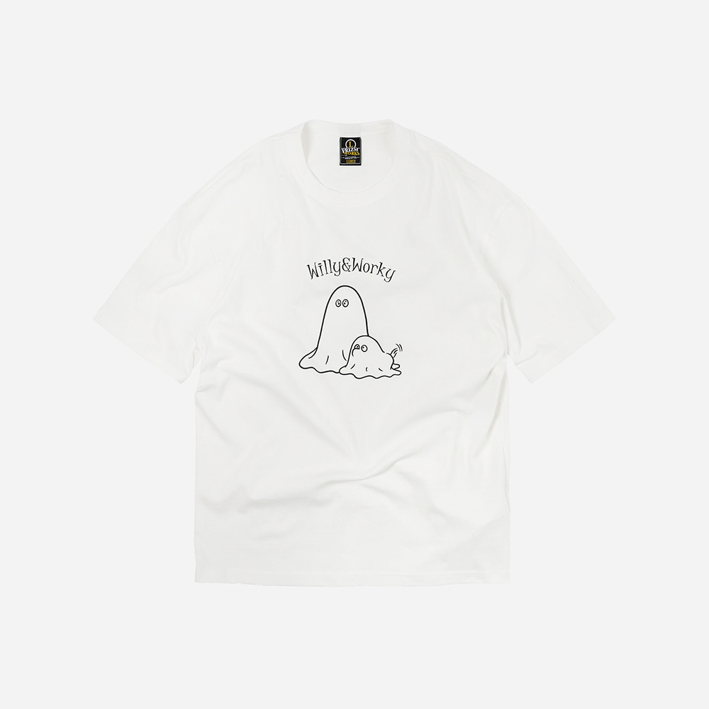 Ghost w&w tee _ white