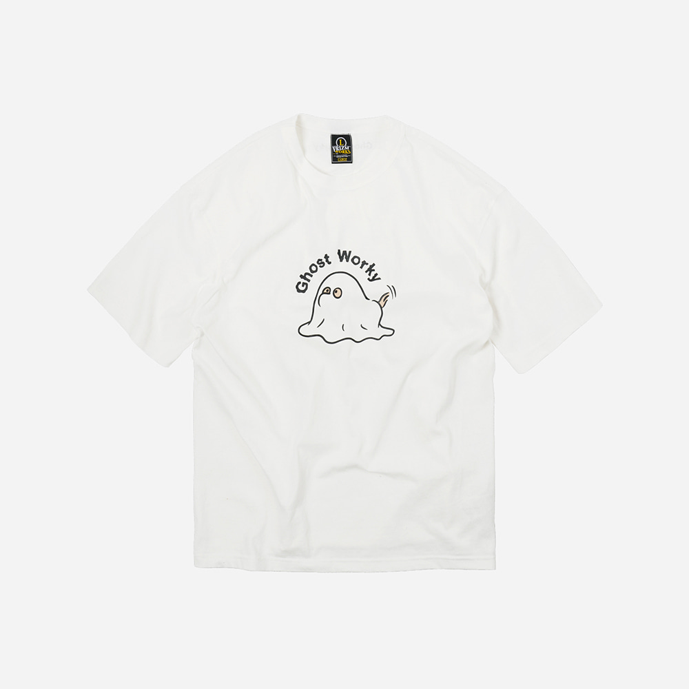 Ghost worky tee _ white