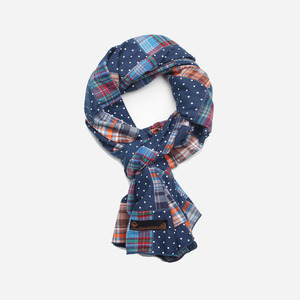Madras patchwork Scarf _ dot[exclusive]