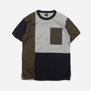 Coloration block tee _ olive