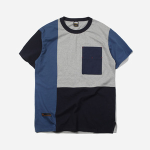 Coloration block tee _ blue