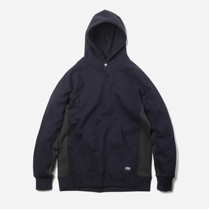 Side coloration hoody _ navy